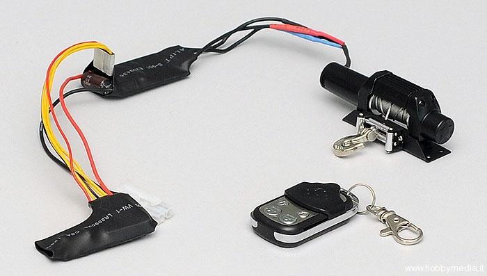 Rc4wd bulldog 9600xt argano verricello wireless per for Argano elettrico 220v con telecomando