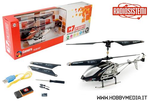 Elicottero A Scoppio Radiocomandato : Elicottero radiocomandato con telecamera c spy helicopter