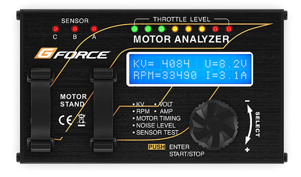 Banco Prova Per Motori Brushless Gforce Motor Analyser