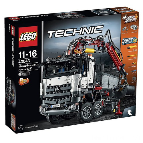 lego technic 42043 mercedes benz arocs 3245 hobbymedia. Black Bedroom Furniture Sets. Home Design Ideas