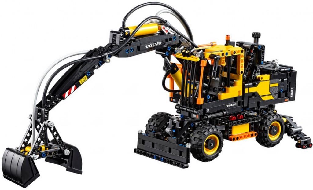 lego technic volvo ew 160e escavatore gommato 42053. Black Bedroom Furniture Sets. Home Design Ideas
