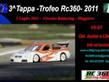 3a tappa Trofeo Rc360 per automodelli Touring in scala 1/5
