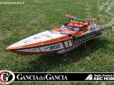 ABC Hobby Gancia dei Gancia - Motoscafo radiocomandato con motore nitro da 26cc