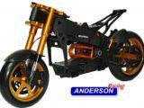 Motocicletta radiocomandata Anderson M5: Parti opzionali in alluminio e grafite - Radiosistemi