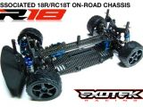 Exotek Racing R18 II - Kit di conversione telaio per Associated 18R e RC18T
