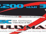 Fullymax LiPo 25C 11.1V 2200 mAh 3 celle - FlightTech Italia