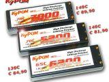 Kypom: pacchi batterie LiPo 7,4v Hardcase fino a 140C