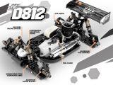 Hot Bodies D812: la buggy in scala 1/8 campione del mondo