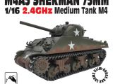 Carro Armato spara pallini soft air Sherman M4A3 75mm 2.4Ghz RTR in scala 1/16
