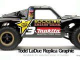 Adesivi ufficiali del campione di desert truck Todd LeDuc