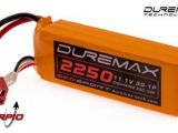Batterie LiPo per automodellismo DUREMAX 2250mAh 11,1V 3S 25C con connettori DEANS