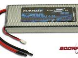 Scorpio - Batteria LiPo Duremax Pro Car da 5200 mAh 25C