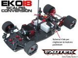 Exotek EKO18 - Kit di conversione Robitronic Scalpel 1/18 