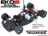 Exotek EKO18 - Kit di conversione Robitronic Scalpel 1/18
