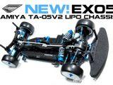 Exotek EX05 LiPo - Telaio in carbonio per Tamiya TA05 V2