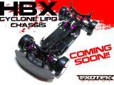 EXOTEK HBX - Telaio in carbonio compatibile LiPo per Hot Bodies Cyclone