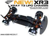Telaio LiPo per Xray T3 Touring Car - Exotek XR3 Chassis