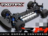 Exotek Racing R14 - Kit di conversione in scala 1:14 per la AE RC18R