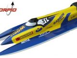Motoscafo radiocomandato: Vantex F1 1300GP Rainbow Team con radiocomando Skyon SID 3 FHSS-D