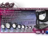 Hudy: Universal Tire Balancing Station - Equilibrare le gomme!