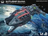Kallamity - Battle Ship Iguana Cruiser Carrier Class 1/1500  kit di montaggio in resina
