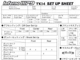 Setup sheet per buggy Kyosho MP9 in formato PDF