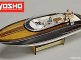 Kyosho EP Wooden Boat Y108 - Motoscafo RC in legno