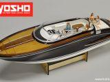 Kyosho EP Wooden Boat Y108 - Motoscafo RC in legno