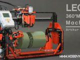 LEGO: una fresa realizzata con i mattoncini Technic