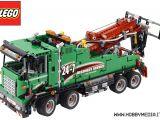 LEGO Technic Service Truck 42008 - Camion verde con sistema pneumatico