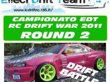 Locandina 2a Tappa Campionato EDT RC Drift War 2011