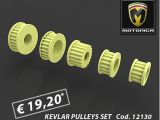Pulegge trasmissione in KEVLAR per Motonica P81 e P8F