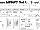 Inferno Buggy MP9 TKI2 WC: Setup Sheet Online - Kyosho