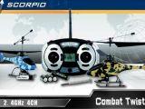 Scorpio: Micro elicotteri Combat Twister Nine Eagles 2,4 Ghz per combattimento aereo a raggi infrarossi