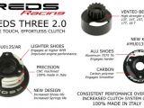 Frizione a 3 ceppi per automodellismo - REDS THREE 2.0