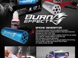 """Burn Effect: Effetto fumo """"gomme bruciate"""" per automodelli"""