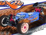 SWorkz S350 FOX8 buggy in scala 1/8 nitro e brushess