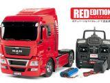 Camion radiocomandato Tamiya MAN TGX Red Edition