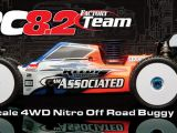 Associated RC8.2 4wd Factory Team Buggy nitro in scala 1:8