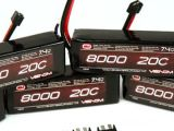 Batterie LiPO Venom 20C 2S 8000mAh 7.4V con Universal Plug System