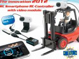 Carrello elevatore con webcam e sistema controllo iPhone Wifi CARSON WiRC