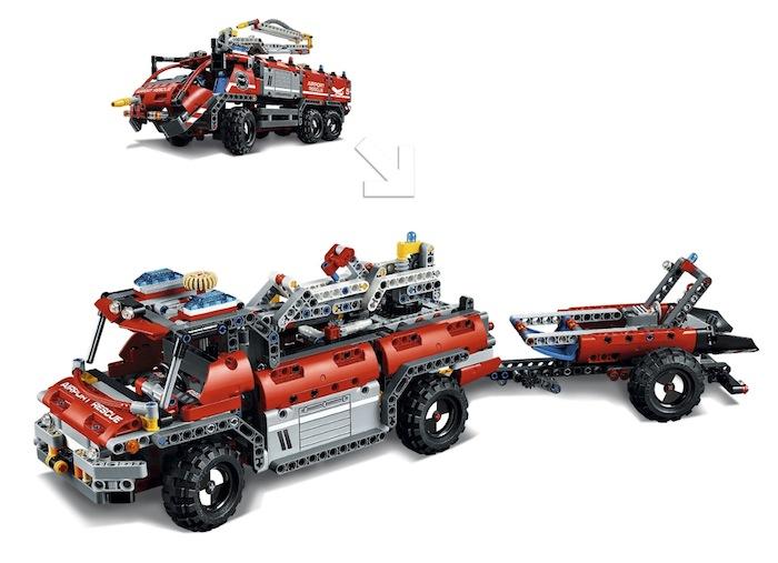 lego technic 42068 modello 2 in 1 camion dei vigili del fuoco hobbymedia. Black Bedroom Furniture Sets. Home Design Ideas